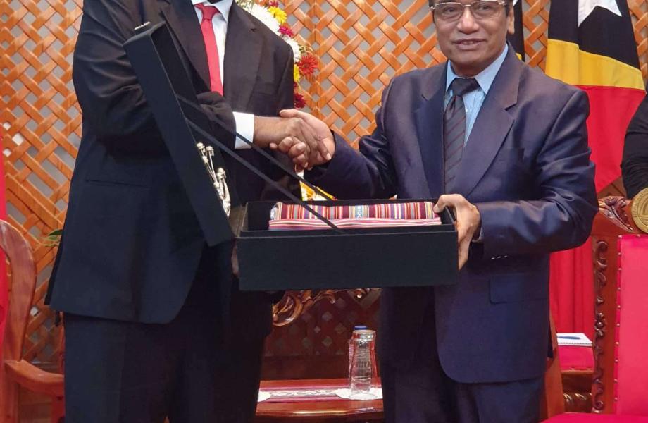 Le Premier Ministre Salwai avait rencontré le Président de Timor Leste, Francisco
